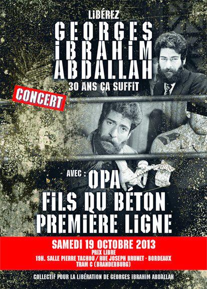 Bordeaux - 19 octobre 2013 - Concert de soutien à Georges Ibrahim Abdallah